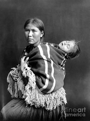 Navajo Woman & Child, C1914 Poster