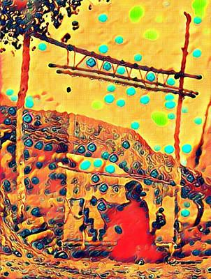 Navajo Woman Weaving 1 Poster