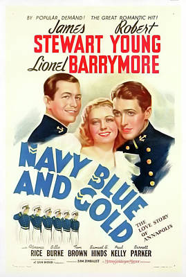 Navy Blue And Gold 1937 Poster