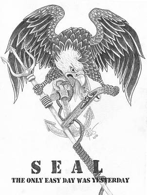 Navy Seal Tribute Poster by Joce Ruston