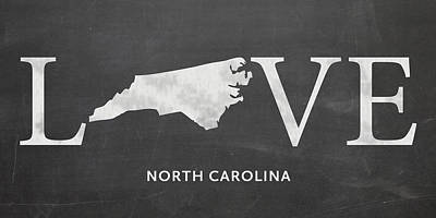 Nc Love Poster by Nancy Ingersoll