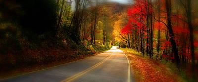 Nc Mountain Fall Drive Poster by Gray  Artus