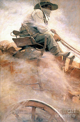 N.c. Wyeth: Ore Wagon Poster by Granger