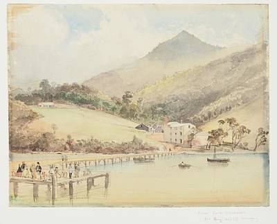 Near Port Chalmers Mr. Boy Les  Brewery, 1865 , By Nicholas Chevalier Poster