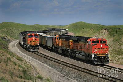 Nebraska Coal Trains Poster by Garry McMichael