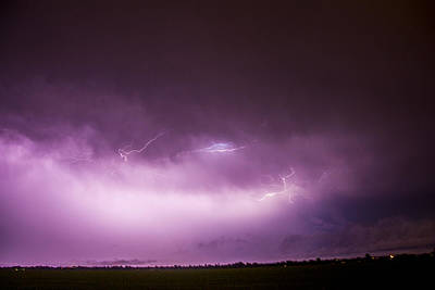 Poster featuring the photograph Nebraska Night Thunderstorms 013 by NebraskaSC