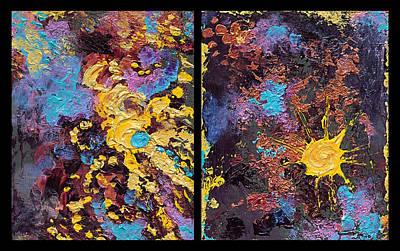 Nebula And Nova Poster by Katherine Nutt