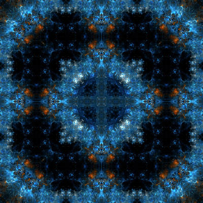 Nebula Mandala 25 Poster by Julia Bagryanskaya