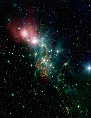 Nebula Ngc 1333 In The Constellation Perseus Poster by American School