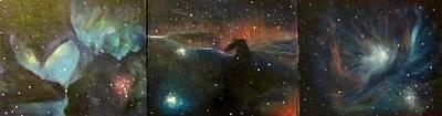 Nebula Triptych Poster by Alizey Khan