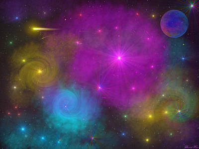 Poster featuring the photograph Nebula Wars by Bernd Hau