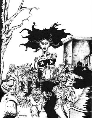 Necrotmantress And Her Undead Legion Poster