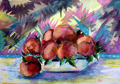 Nectarines Poster by Mindy Newman