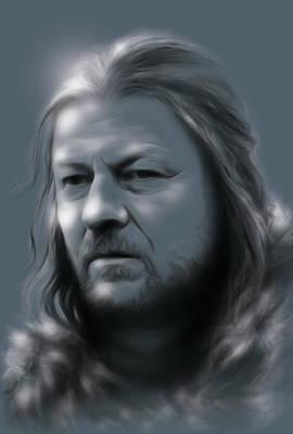 Ned Stark Poster by Marina Pacurar