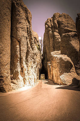 Needles Eye Tunnel At Custer State Park, Black Hills. South Dakota. Poster by Art Spectrum