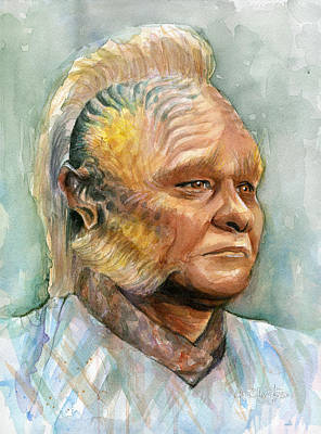 Neelix Star Trek Voyager Watercolor Poster by Olga Shvartsur