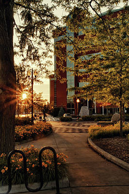 Poster featuring the photograph Neenah Center Sunset by Joel Witmeyer