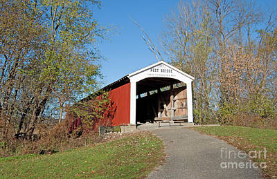 Neet Covered Bridge, Indiana Poster by Steve Gass