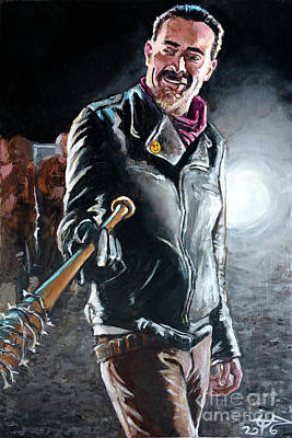 Negan Poster by Tom Carlton