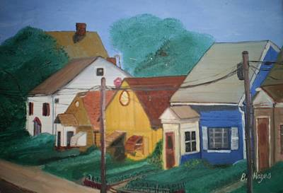 Poster featuring the painting Neighbors by Barbara Hayes