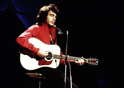 Poster featuring the photograph Neil Diamond 1971 by Chris Walter