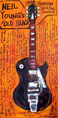 Neil Young's Old Black Poster by Karl Haglund