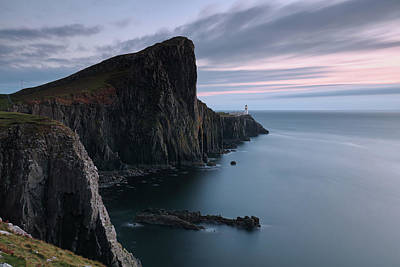 Poster featuring the photograph Neist Point Sunset - Isle Of Skye by Grant Glendinning