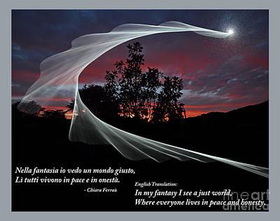 Nella Fantasia Io Vedo Un Mondo Giusto Poster by Jim Fitzpatrick