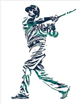 Nelson Cruz Seattle Mariners Pixel Art 6 Poster