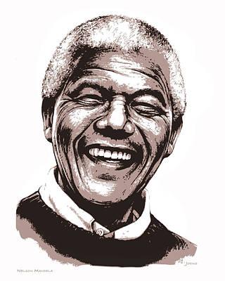 Nelson Mandela Poster by Greg Joens