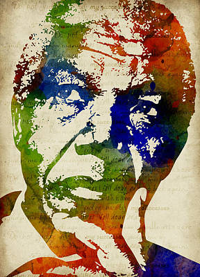Nelson Mandela Watercolor Poster by Mihaela Pater