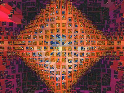Nemesis Or Starburst Poster by Lynda Lehmann