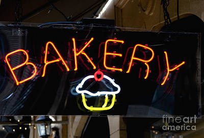 Neon Bakery Sign Poster by Inti St. Clair