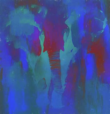 Neon Elephant Poster by Dan Sproul