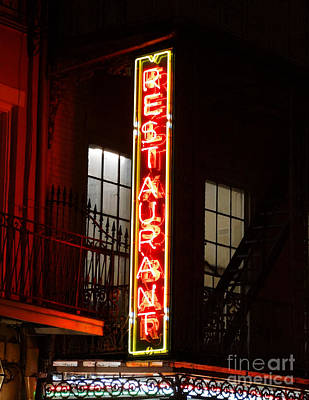 Neon French Quarter Poster by Joseph Baril