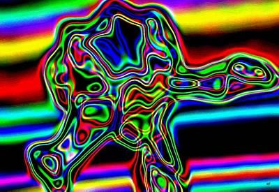 Neon Iris Poster by Will Borden