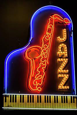 Neon Jazz Poster