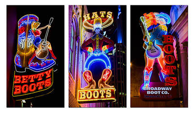 Neon Nashville Poster by Stephen Stookey