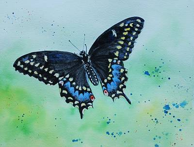 Neon Swallowtail Poster