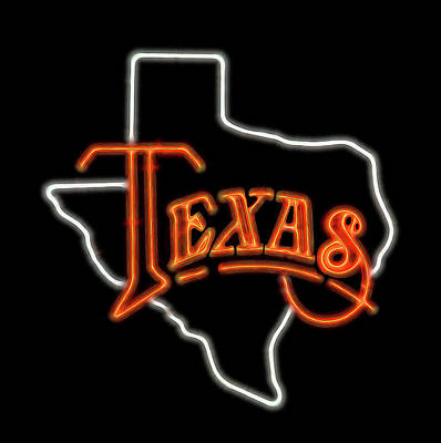 Poster featuring the digital art Neon Texas by Daniel Hagerman