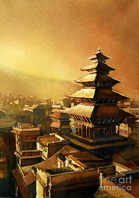 Nepal Temple Poster