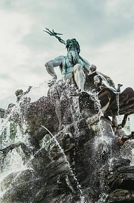 Neptunbrunnen Berlin Poster by Pati Photography