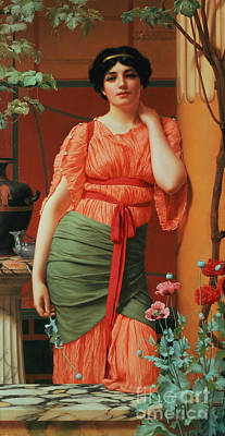 Nerissa Poster by John William Godward