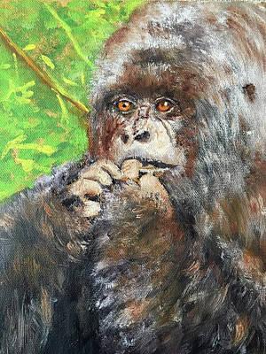 Nervous Mama Gorilla Poster