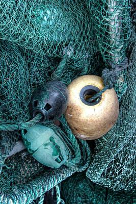 Nets And Buoys Poster by Lynn Jordan
