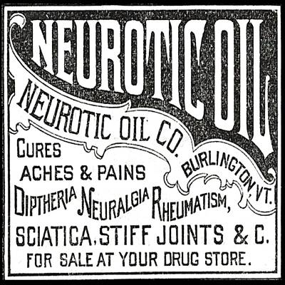 Neurotic Vintage Ad Poster