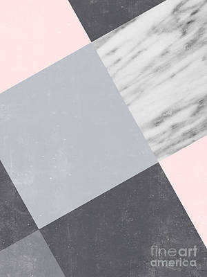 Neutral Collage With Marble Poster