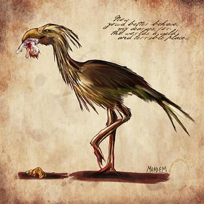 Never Bird Poster by Mandem