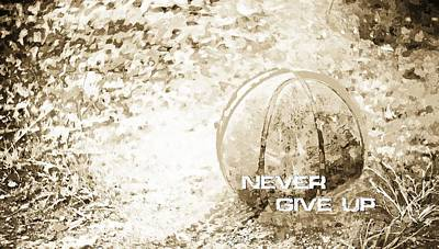 Never Give Up Hebrews Chapter 11 Poster