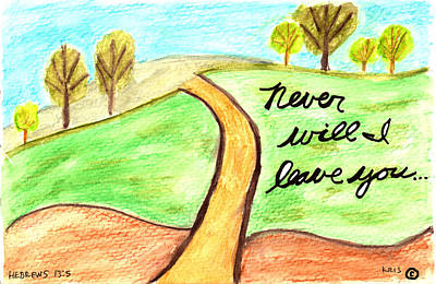 Never Leave You Poster by Kristen Williams